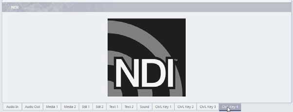 Disabled Chroma key when NDI is connected to input